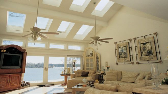 Skylights from Velux and Straight Line Construction of Sacramento