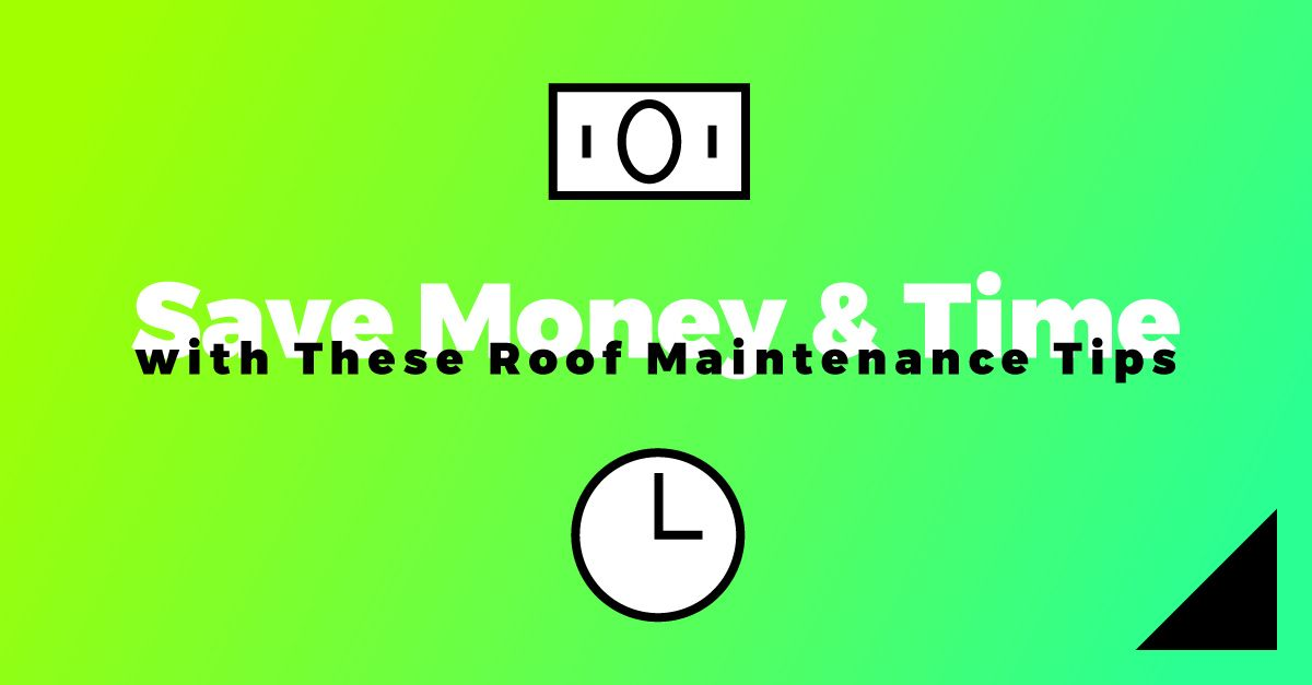 Save money and time roof maintenance tips
