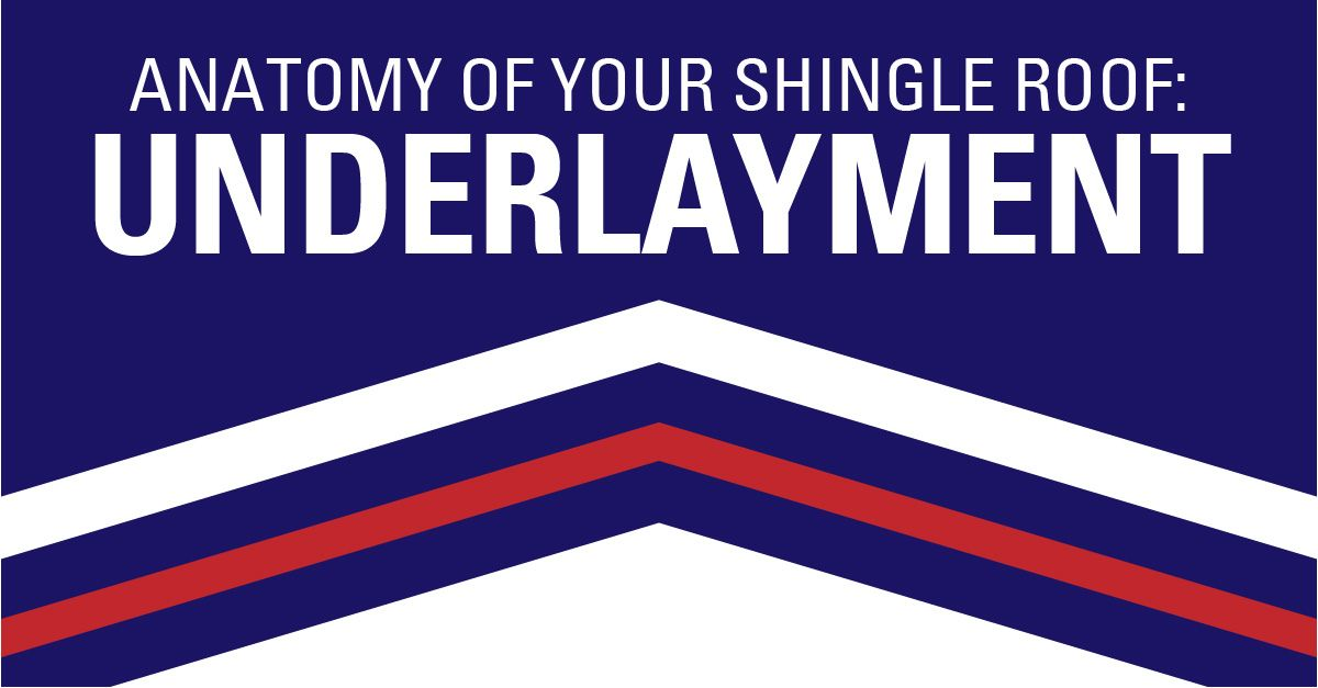 Underlayment and your shingle springs, shingle roof